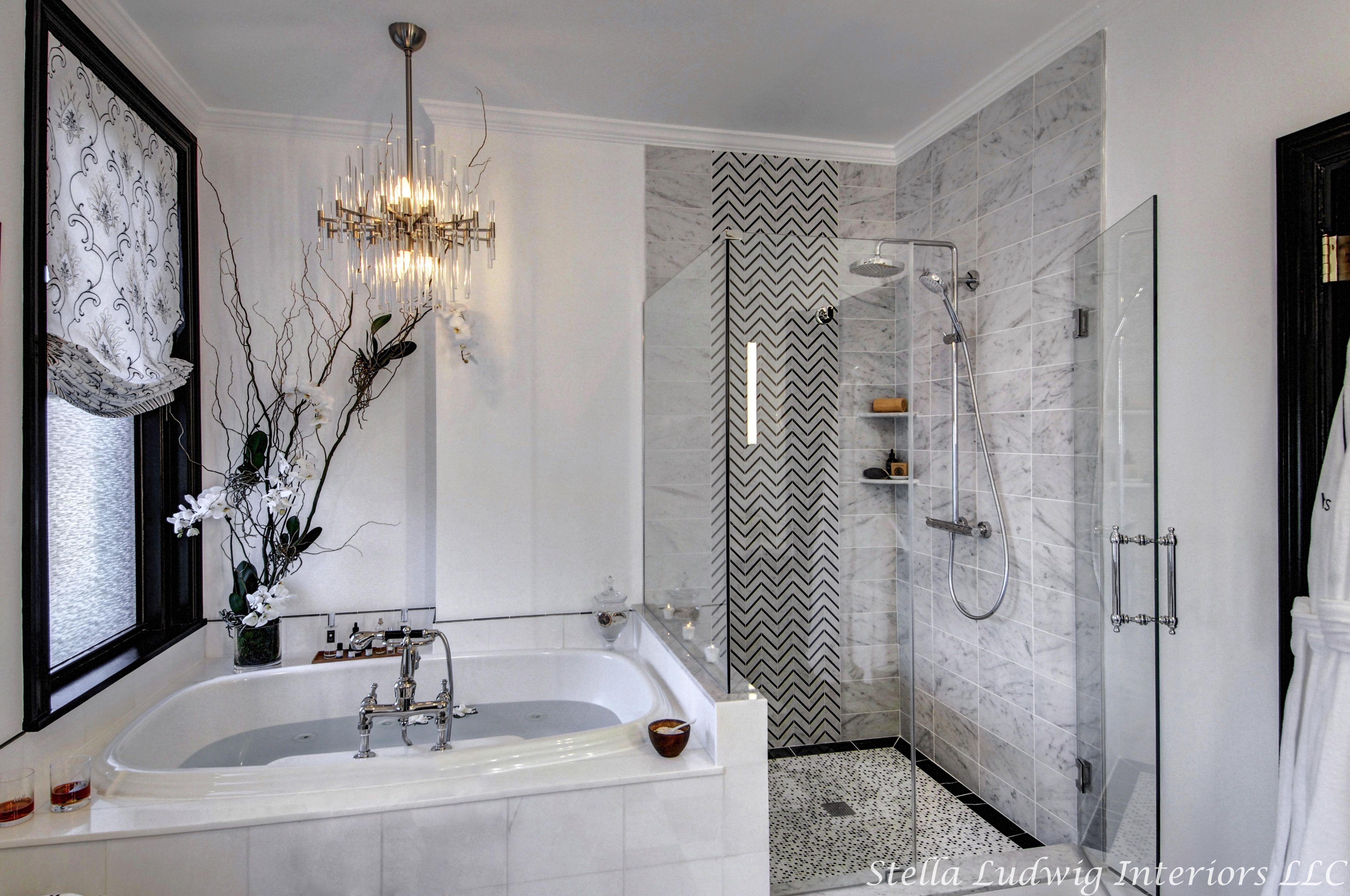 A luxurious home Spa. A tired master bathroom got a luxurious ...