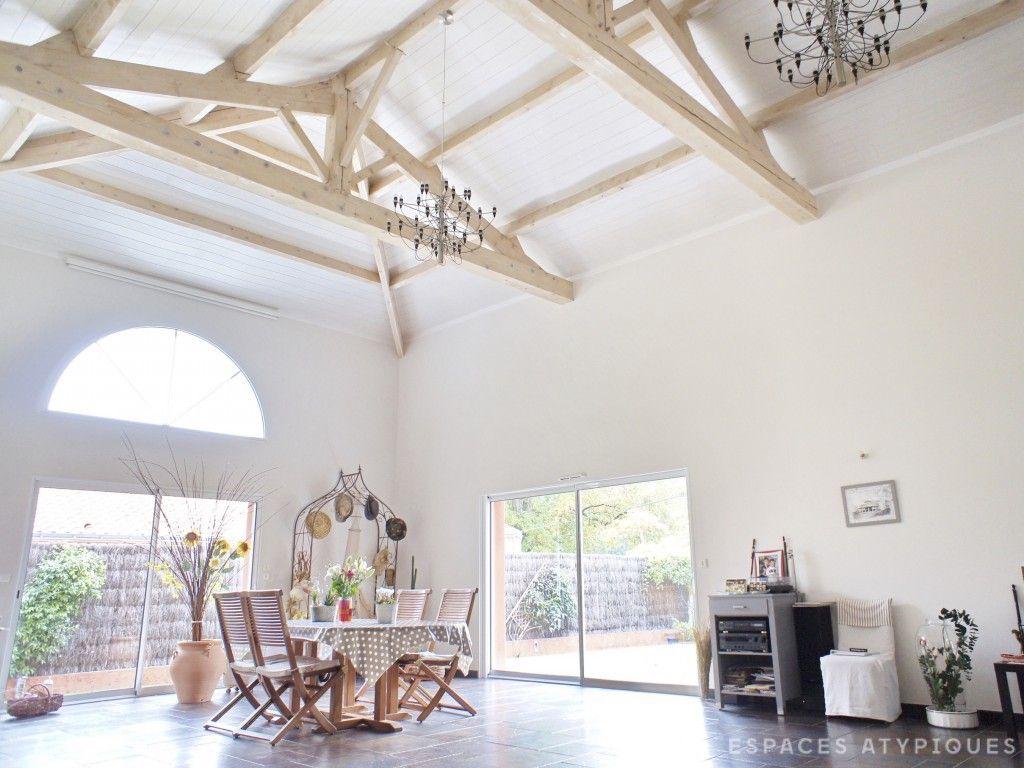 nantes maison d architecte avec plafond cath drale n a. Black Bedroom Furniture Sets. Home Design Ideas