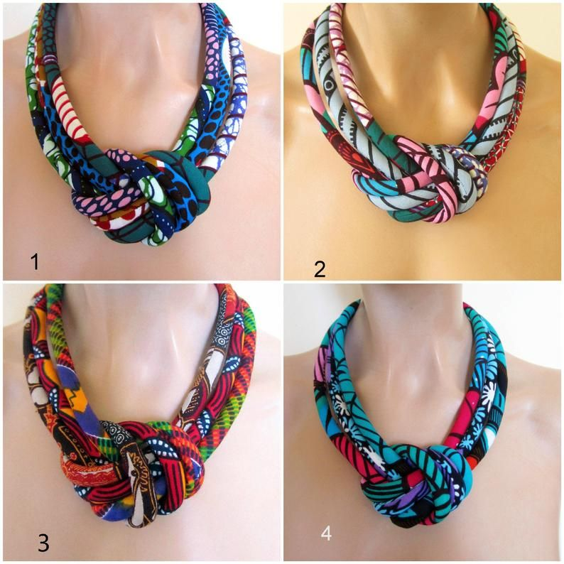 Colorful Necklace - Light weight jewelry - African