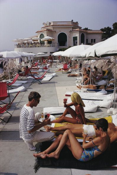 Hotel Du Cap Slim Aarons Holidaymakers At The Eden Roc Antibes On French Riviera 1969