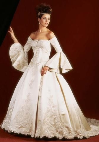 Possible wedding gowns on pinterest renaissance wedding for Renaissance inspired wedding dress