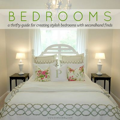 Des tonnes d'idées économes pour les chambres avec des articles de seconde décoration |  LiveLoveDIY