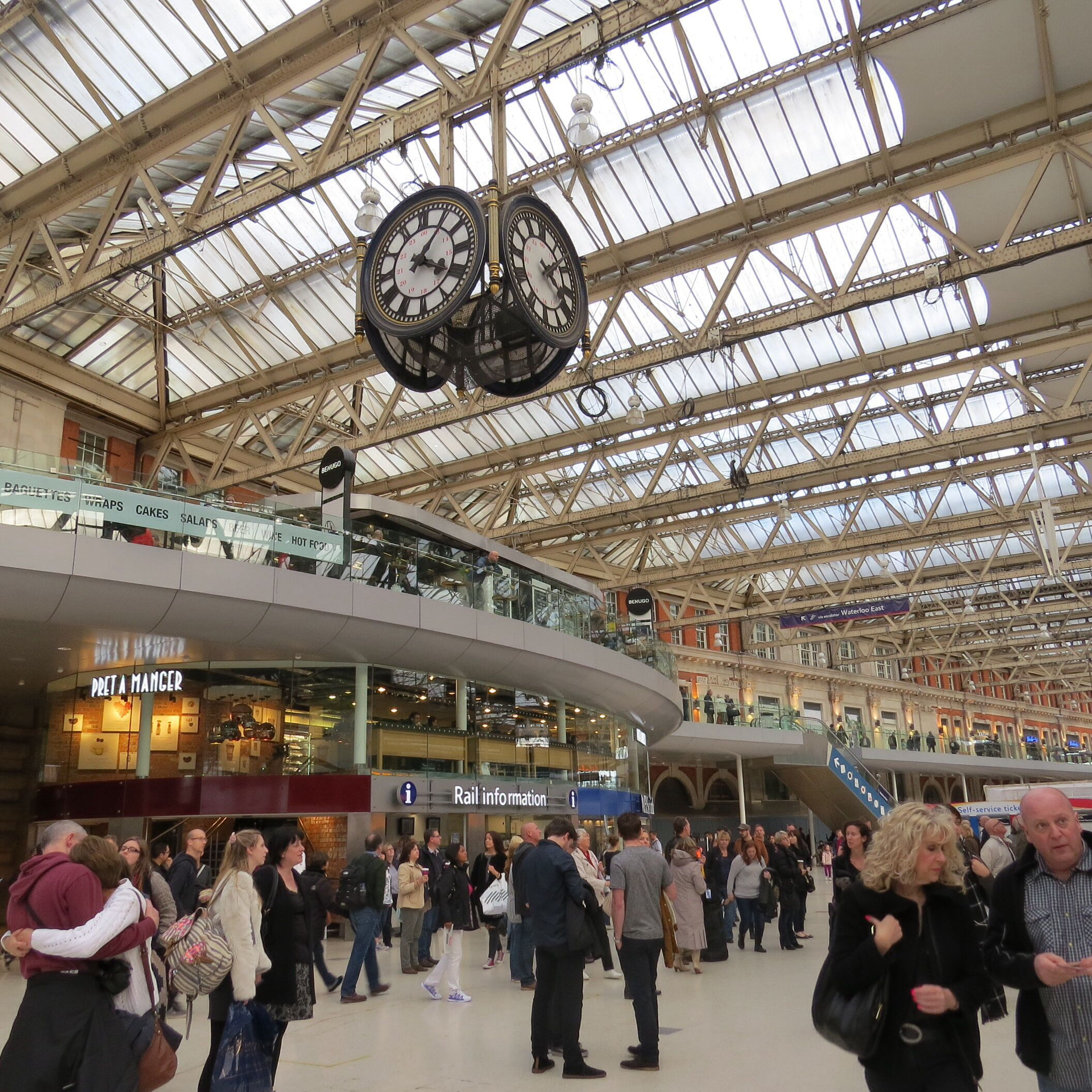 A Moment in Time at Waterloo Station