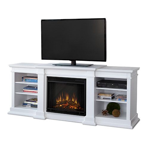 White Tv Stand With Fireplace Fresno White Electric Fireplace G1200e W The Real Flame Fresno