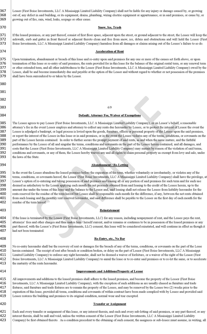 Mississippi Commercial Triple Net Lease Sample Download Free Printable Legal Rent And Lease Template Form In Different Editab Lease Legal Contracts Legal Forms