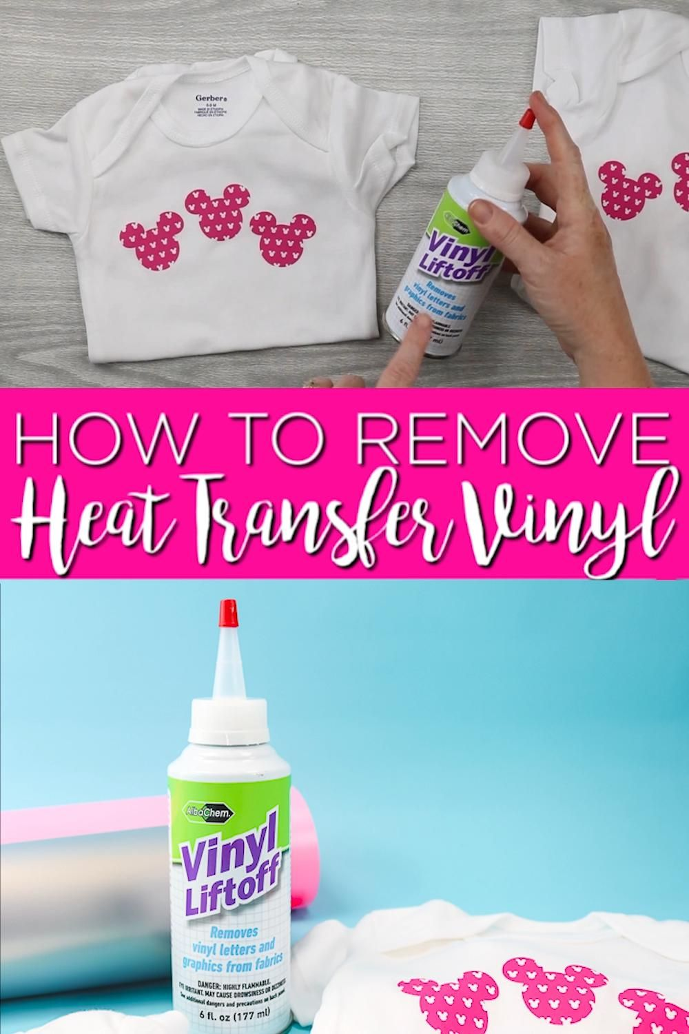 Learn how to remove heat transfer vinyl when you mess up a project! This is a lifesaver if you don't get it right the first time! #htv #heattransfervinyl #cricut #cricutcreated #ironon