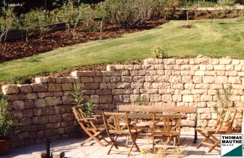 Steinmauer | Garten | Pinterest | Steinmauer, Gärten und Gartenideen