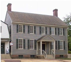 Charlton House in colonial Williamsburg Virginia Colonial Home