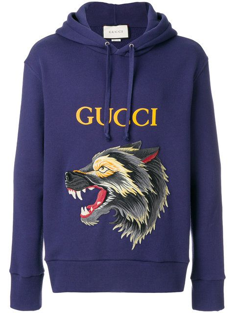6eb8c9c22a59 GUCCI wolf motif hoodie. #gucci #cloth # | Gucci Men in 2019 | Gucci ...