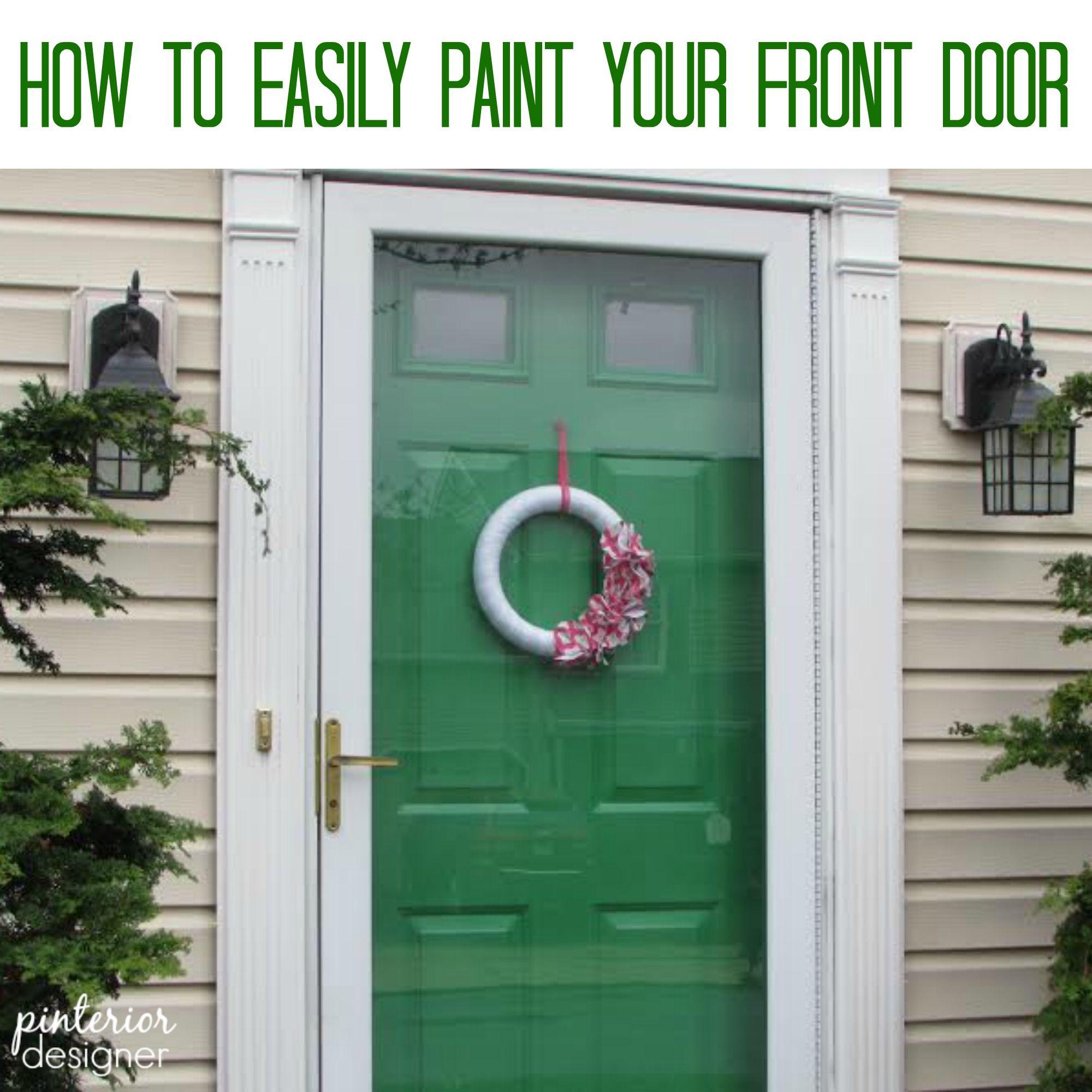 Green Front Doors: Sherwin Williams Lucky Green Front Door