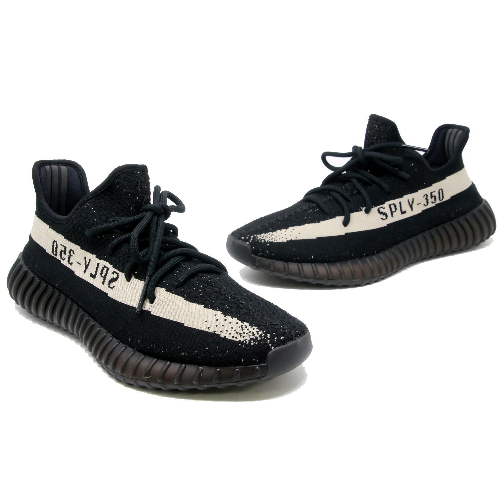 7ab25bedf Adidas X Yeezy Black Boost 350 V2 White Oreo Sneaker sz 10.5 in 2019 ...