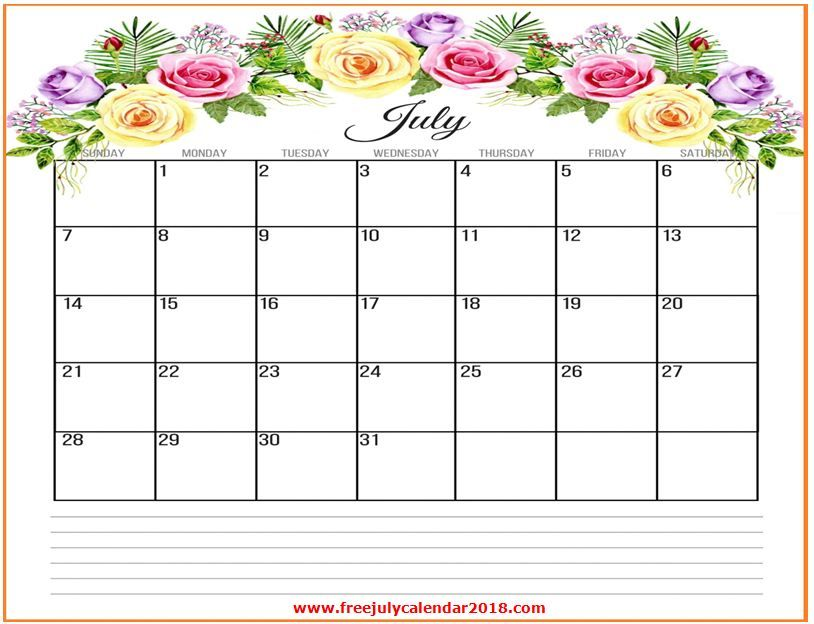 July 2019 Floral Calendar Calendar Printables October Calendar