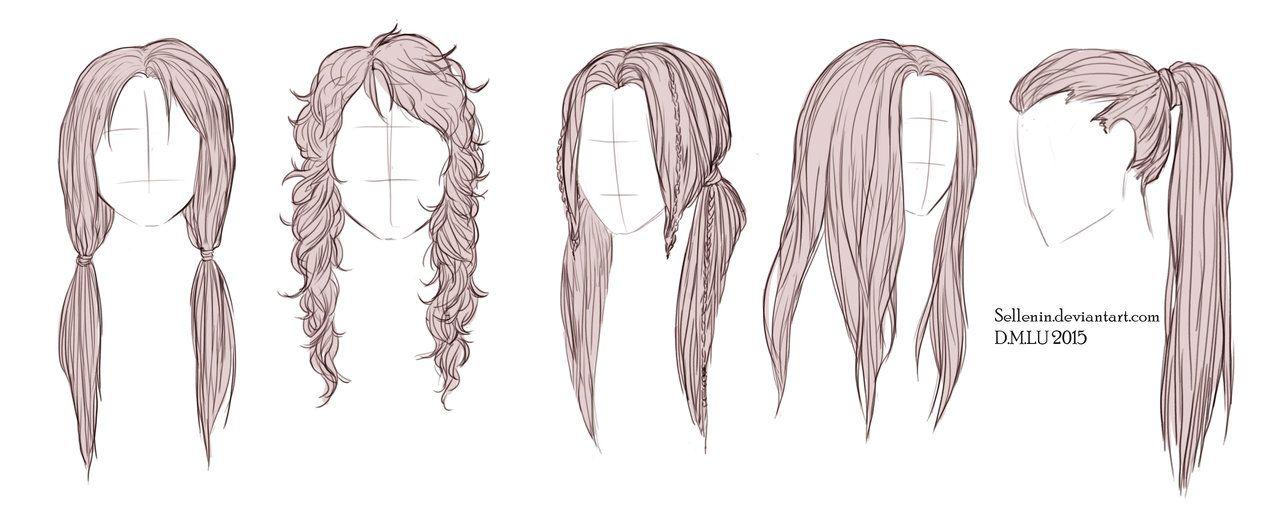 Long Hairstyles How To Draw Hair Long Hair Drawing Hair Sketch