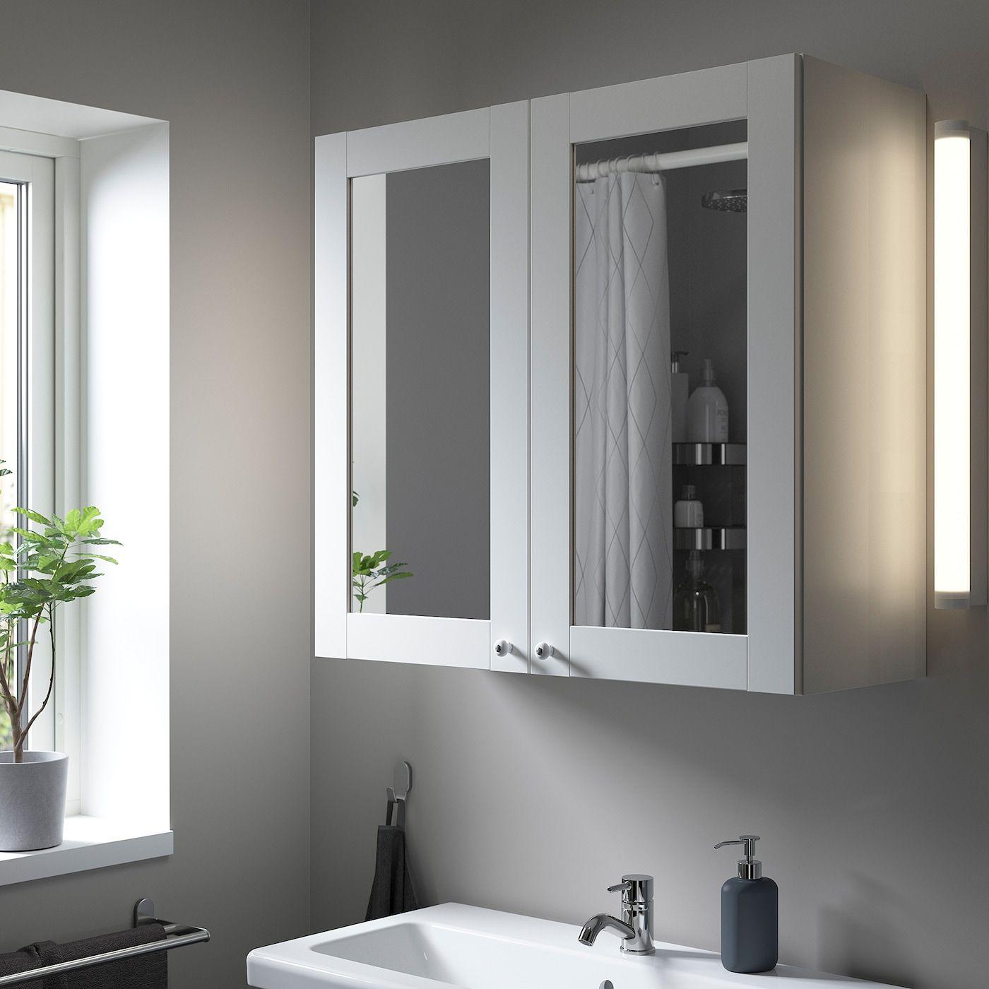 Enhet Mobile A Specchio Con 2 Ante Bianco Bianco Cornice Ikea It In 2021 Mirror Cabinets Bathroom Mirror Ikea France