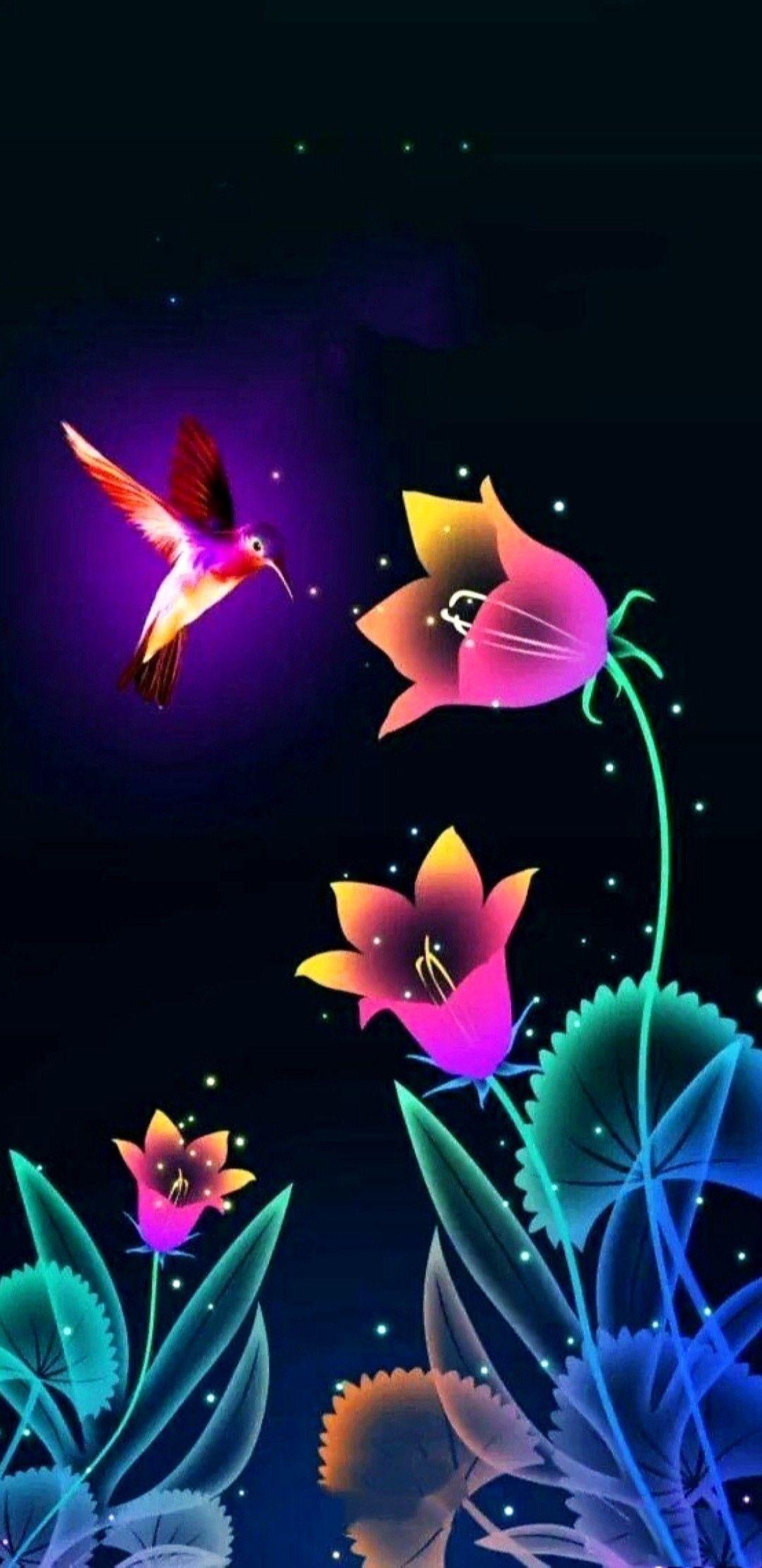 Pin By K Ru N On Pegasus Unicorn Flower Phone Wallpaper Colorful Wallpaper Hummingbird Wallpaper