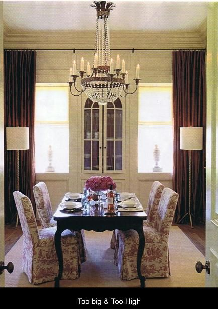Chandelier Is Too Big For The Table And Is Hung Too High Elegant Dining Room Room Design Red Dining Room