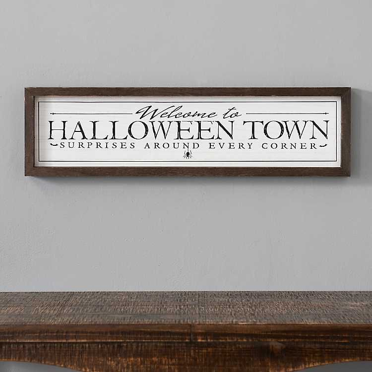 Halloween Forum 2020 Kirklands Halloween Town Framed Wall Plaque from Kirkland's in 2020 | Frames