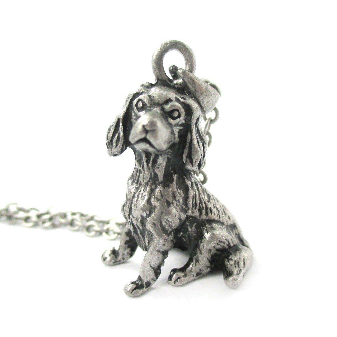 3d Detailed King Charles Spaniel Animal Charm Dog Lover Themed