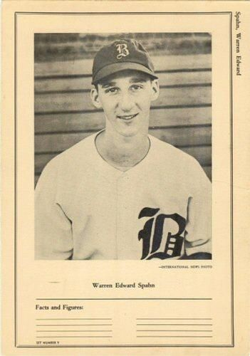 1946-49 W603 Sports Exchange #9-9 Warren Spahn Front