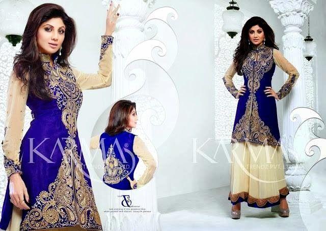 Karma Trendz Party Wear Designer Suits 2014 15 Shilpa Shetty Designer  Salwar Kameez (13