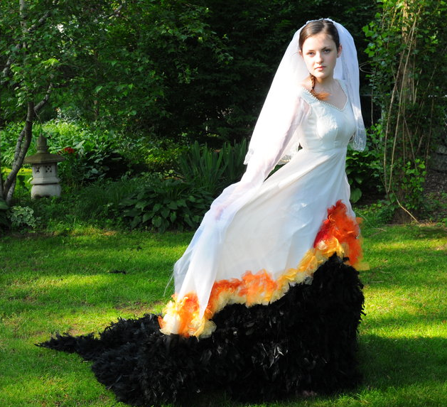 Gorgeous Hunger Games Wedding/Mockingjay Dress Costume by Jessica ...