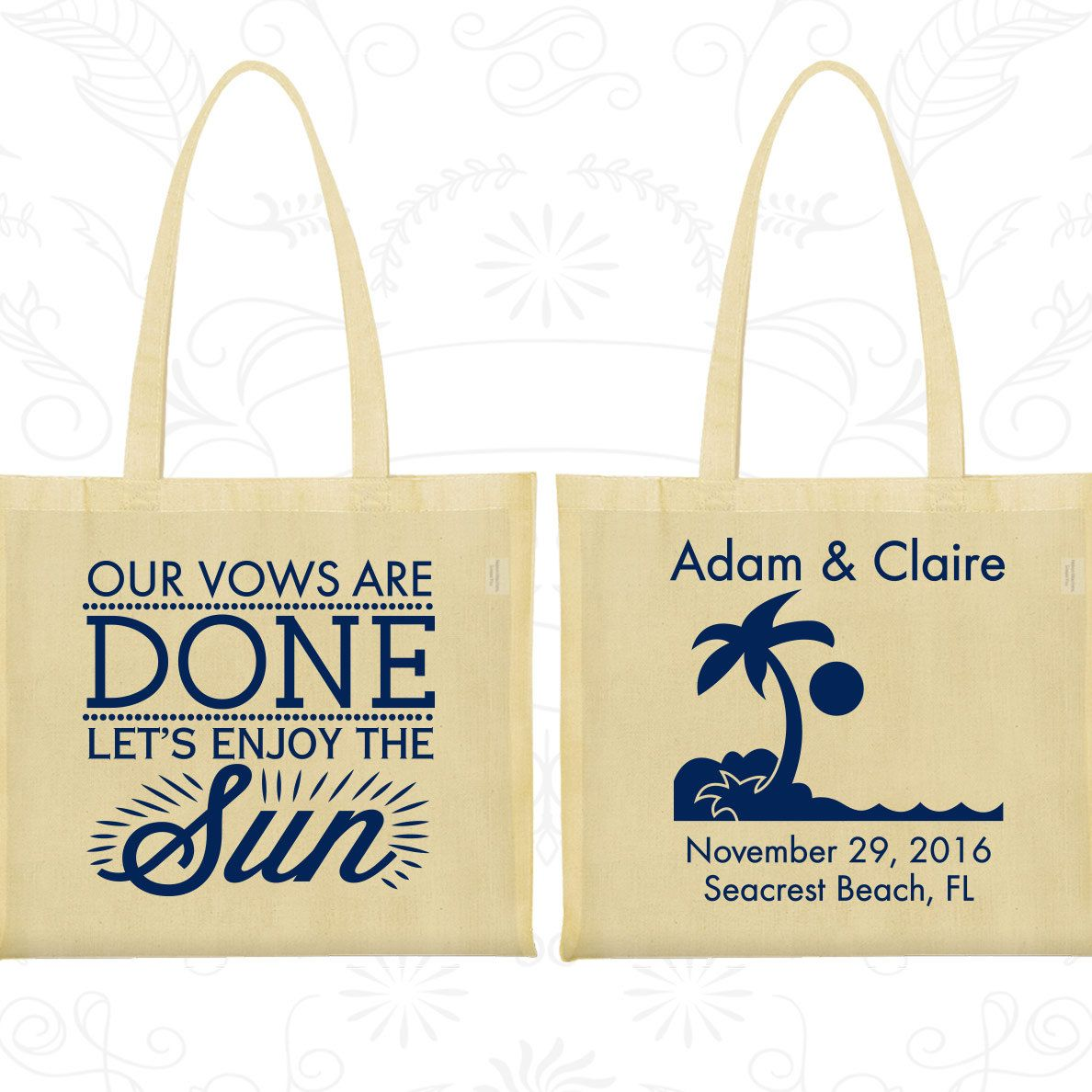 Tote Bag Personalized, Tote Bags, Wedding Tote Bags, Personalized ...