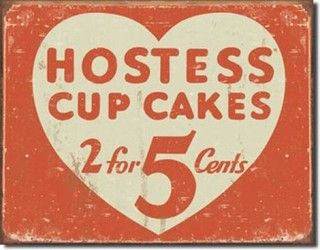 Hostess Cup Cakes Tin Sign - modern - artwork - other metro - by AccentFurniture