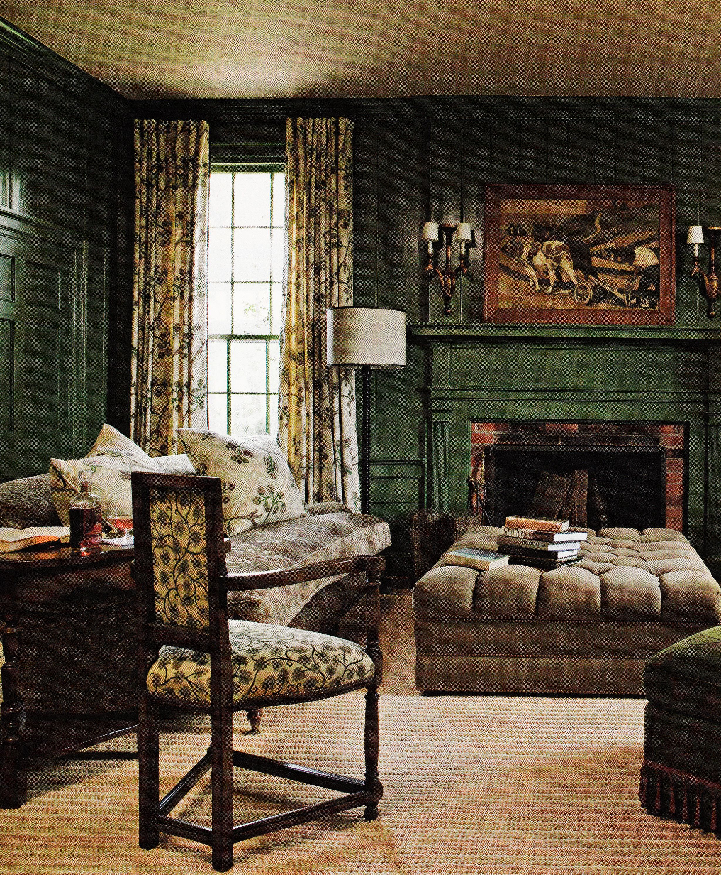 Country Farmhouse Living Room: Barry Dixon's Virginia Farmhouse Living Room, Southern