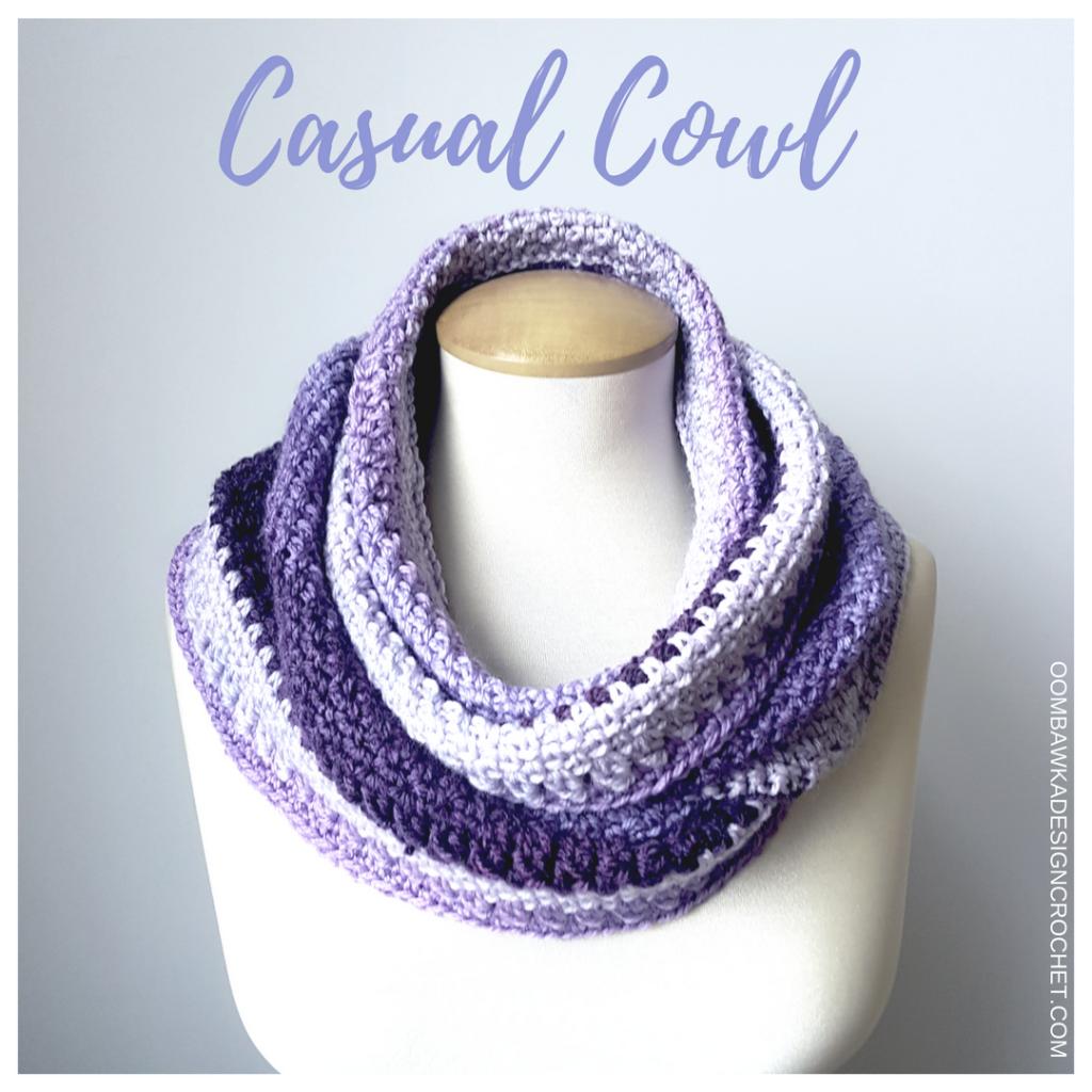 Casual Cowl a Free Crochet Pattern from Oombawka Design | Moda de ...