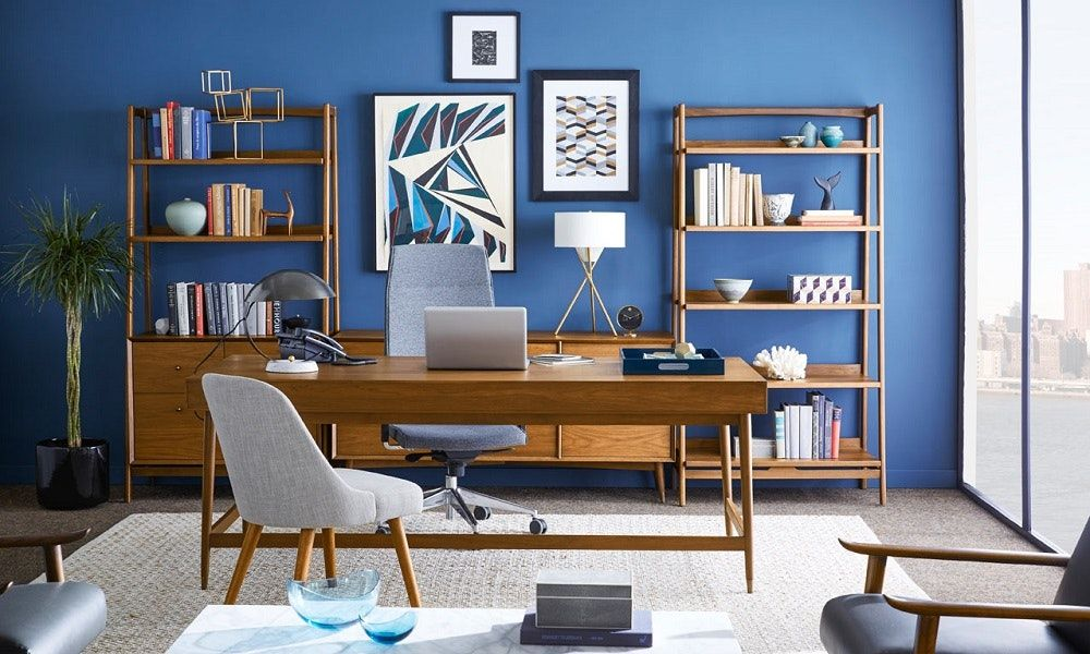 Guide To Home Office Design And Styles Mid Century Modern Home Office Furniture Home Office Design Modern Home Office