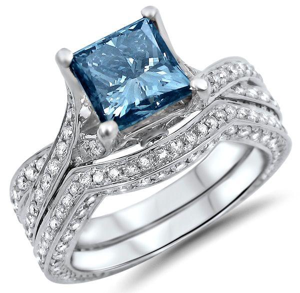 Pin On Blue Wedding Dresses