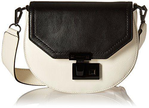 Rebecca Minkoff Medium Paris Saddle Shoulder Bag, Antique White/Black, One Size >>> You can get more details by clicking on the image.