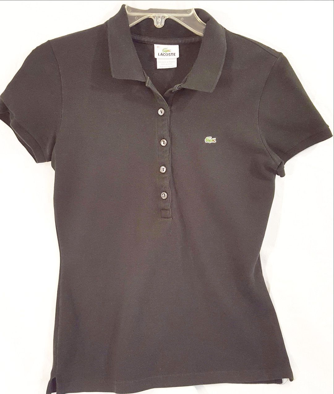 Black Lacoste Polo Shirt