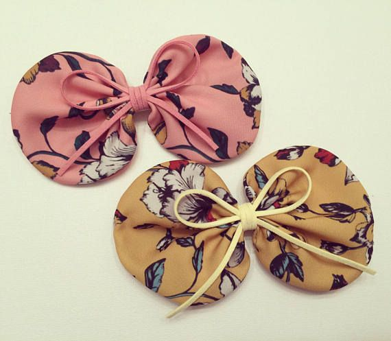 Fabric Hairbow, leather Hair bow, Big Hair bow, Girls Hair bow
