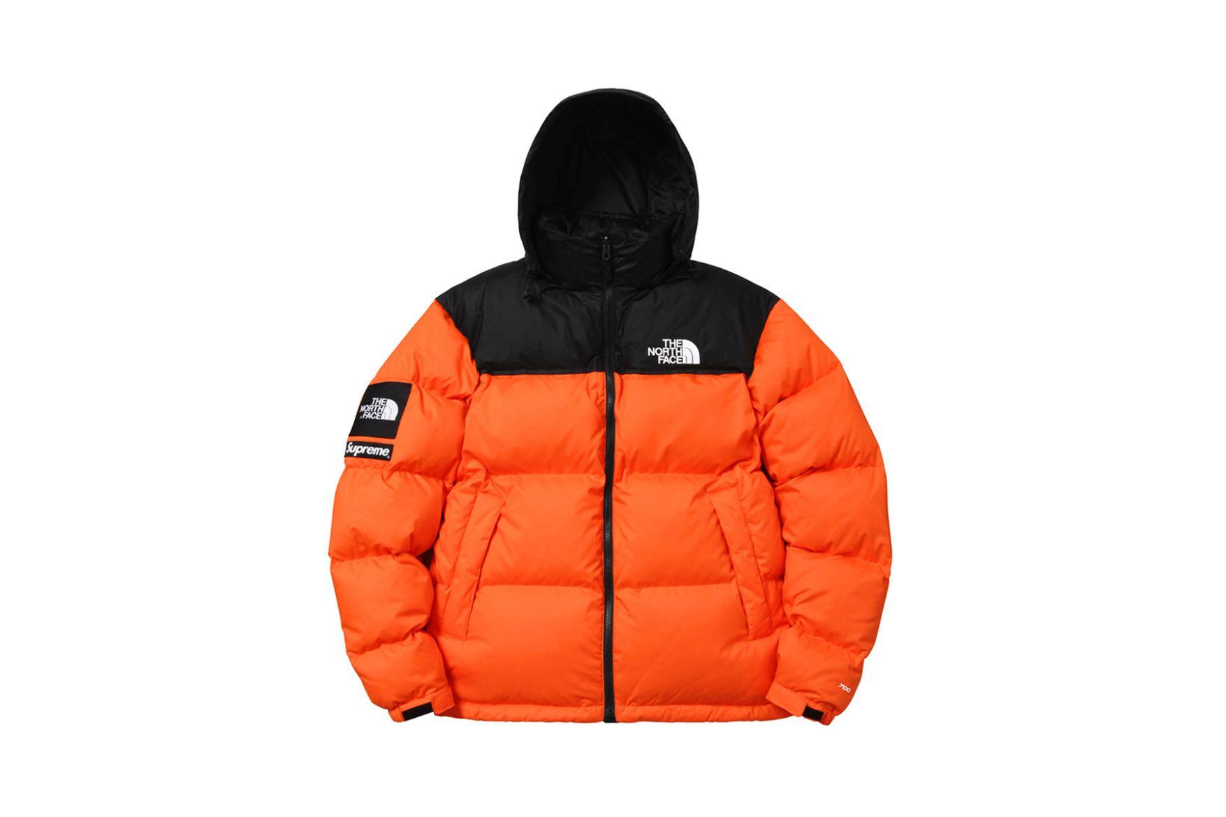 Supreme X The North Face 2016 Fall Winter Collection Orange North Face Jacket North Face Puffer Jacket North Face Nuptse Jacket [ 1170 x 1755 Pixel ]