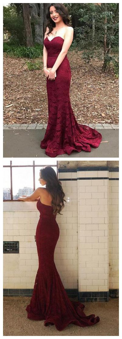 9a7ca5babc24 CHIC PROM DRESSES BURGUNDY SWEETHEART LACE BEAUTIFUL PROM DRESS LONG PARTY  DRESS AMY036 #amyprom #longpromdress #fashion #love #party #formal
