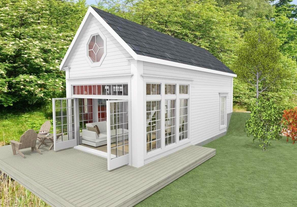 25 kvadrat - Attefallshus - Sovrum - fasad front 1   Cabins and ... : friggebod coop : Inredning