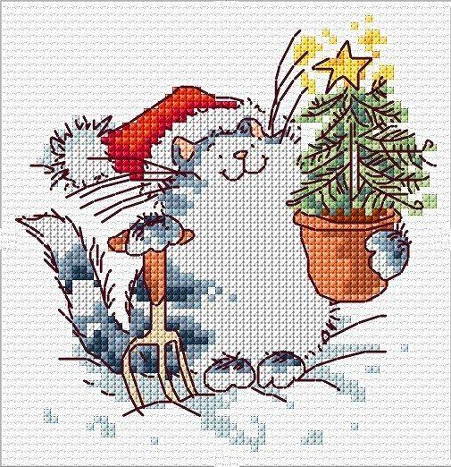 Картинки новогодние вышивка