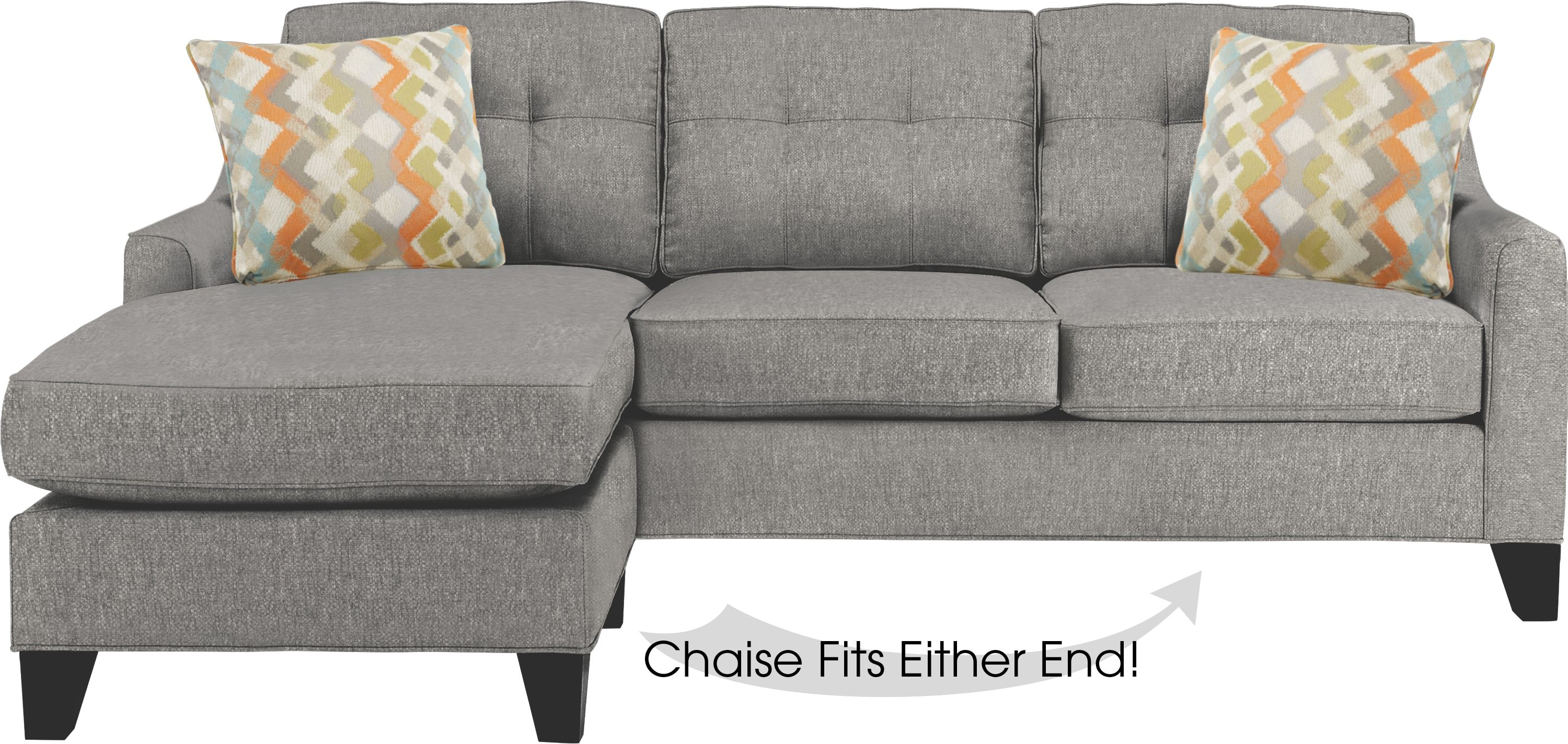 Cindy Crawford Home Madison Place Gray Textured Sleeper
