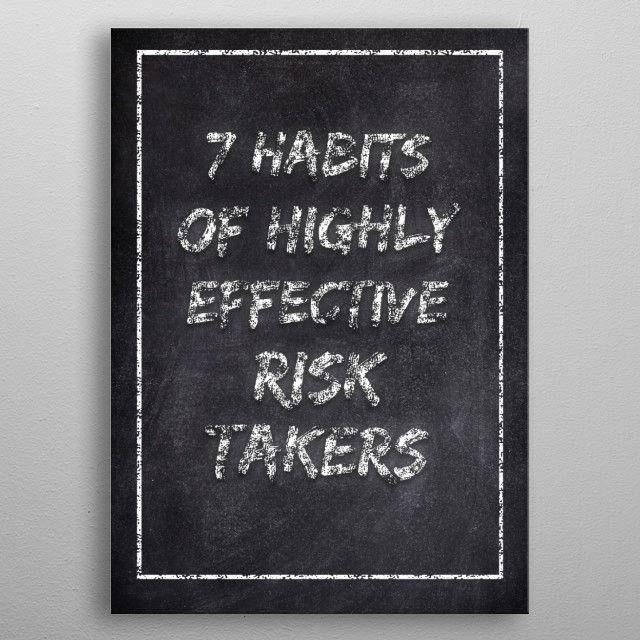 7 HABITS by FARKI15 DESIGN | metal posters - Displate | Displate thumbnail