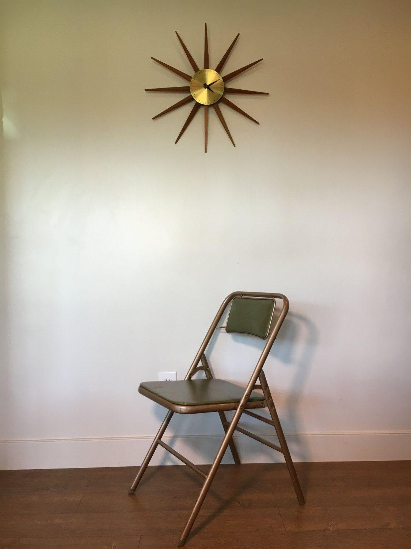 Peachy Vintage Folding Chair Mid Century Modern By Samsonite Cjindustries Chair Design For Home Cjindustriesco