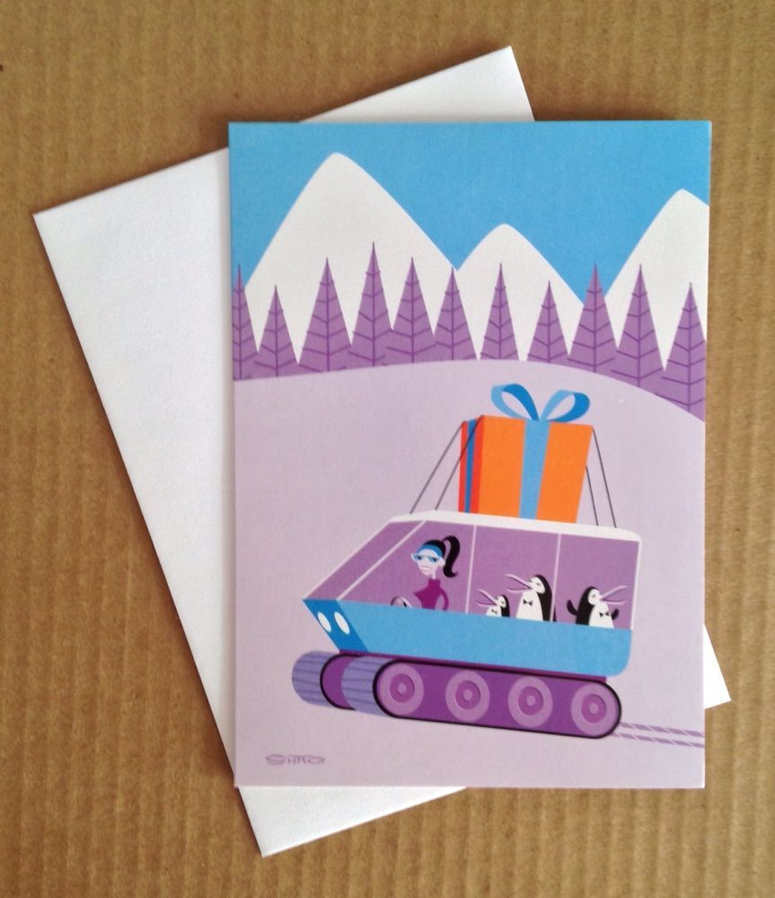 Shag Josh Agle Christmas Xmas Holiday Greeting Card Postcard Art