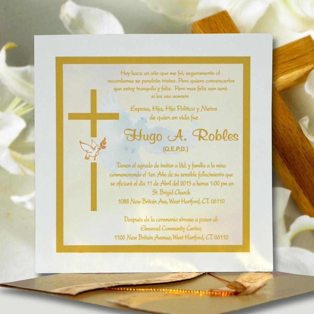 Invitaci n para misa de honras hr 56850 angels graphic for Esquelas funeraria el mueble melide