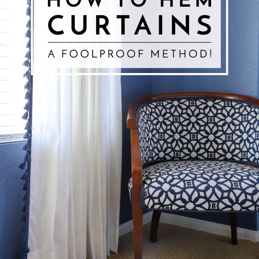 How to Hem Curtains (With images) How to hem curtains