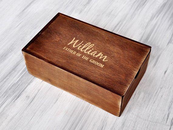 Personalized Wood Box Groomsmen Gift Box Wood Keepsake Box Engraved Gift Box Best Men Gift Memory Bo
