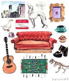 Friends TV Show Art Print Friends Painting Friends TV Show | Etsy