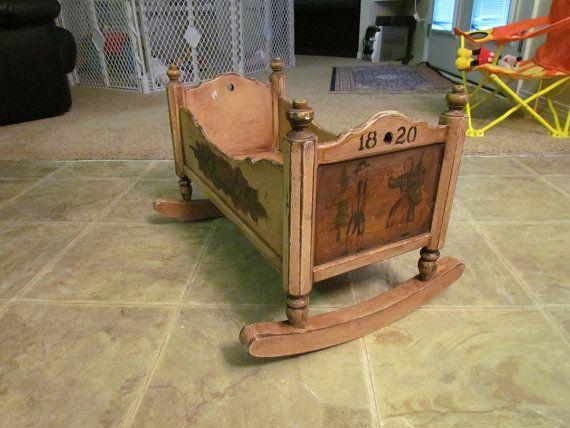 1820 German Baby Cradle In 2019 Baby Furniture Wooden