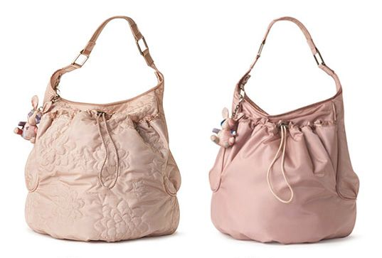 168dbac59 Stella McCartney's LeSportsac Hobo Bag in 'Antique Quilted' and 'Dirty Pink  Solid' – made from 100% recycled eco polyester (body fabric)