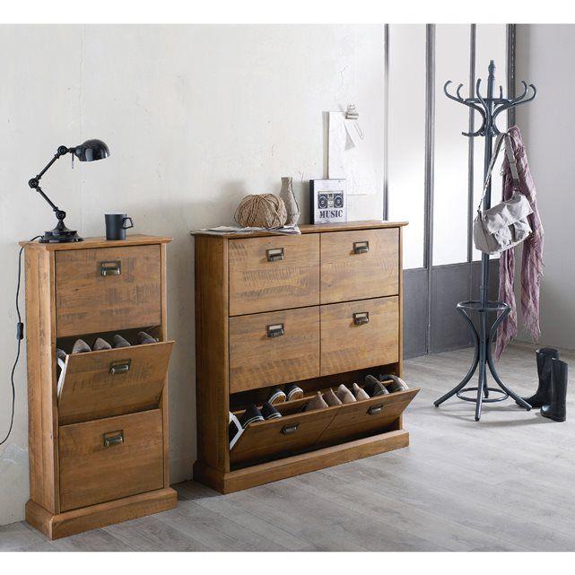 meuble range chaussures 3 abattants lindley ranger r alit s et armoires. Black Bedroom Furniture Sets. Home Design Ideas
