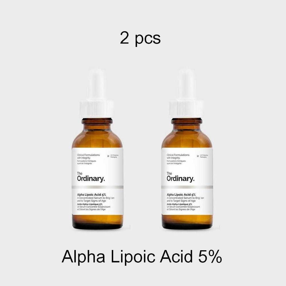 The Ordinary 2pcs Alpha Lipoic Acid 5 Water Free Arbutin 2 Ha30ml